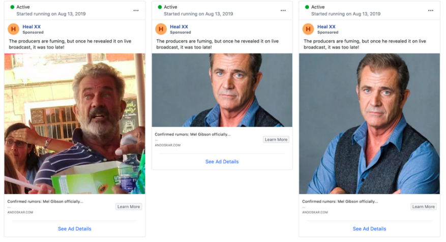 Mel Gibson Crypto Currency Facebook Scam